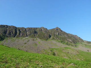 Looking up to Haystacks.