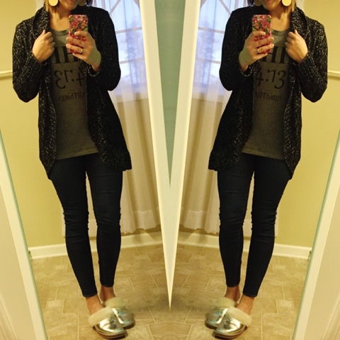 comfy style, phil 4:13, how to wear a cardigan