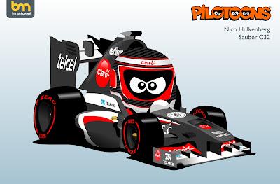 Нико Хюлькенберг Sauber С32 pilotoons 2013