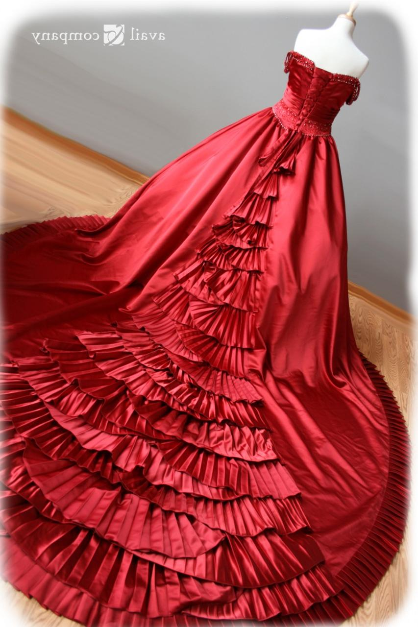Red Wedding Dress - Caledonia