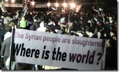 Syria asks where is the world