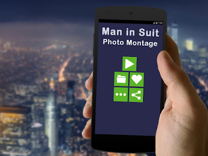 Man In Suit Photo Montage - screenshot