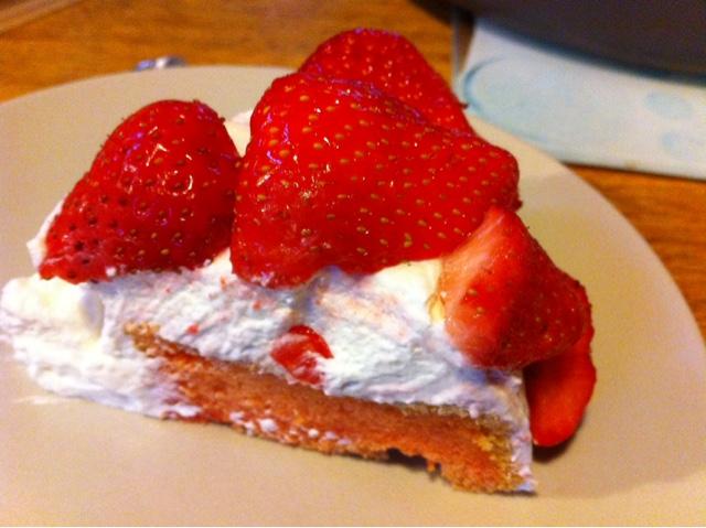 Chiffon cake fraises