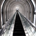 escalator to the floating garden in Osaka, Osaka, Japan