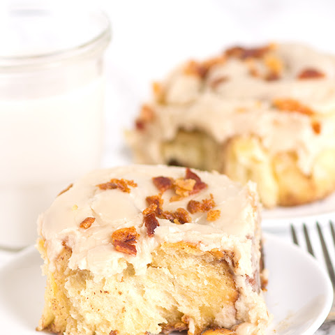Maple Bacon Overnight Cinnamon Rolls