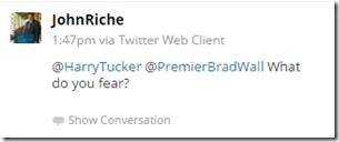 John Riche tweet