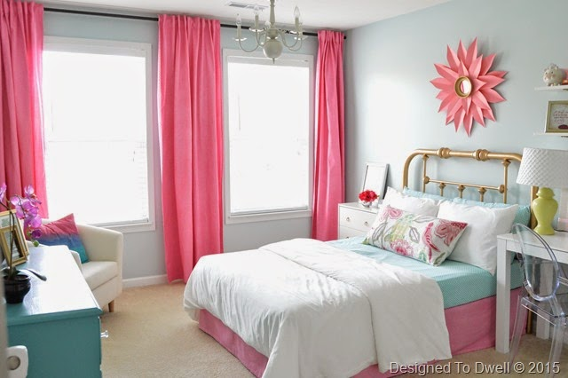 Fun & Colorful Girl's Bedroom