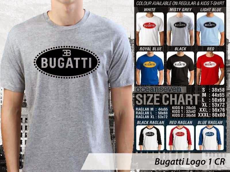 KAOS Bugatti Logo Otomotif distro ocean seven