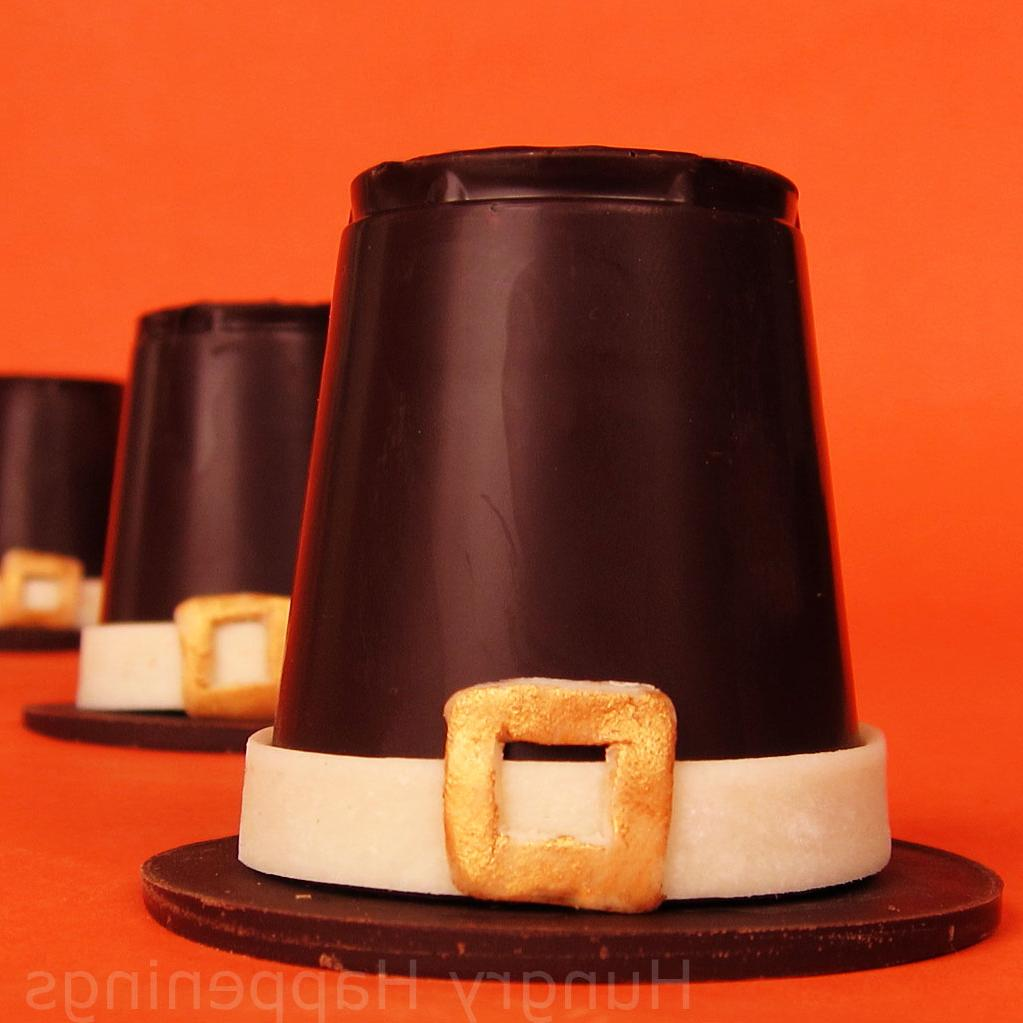 Chocolate Pilgrim Hats filled