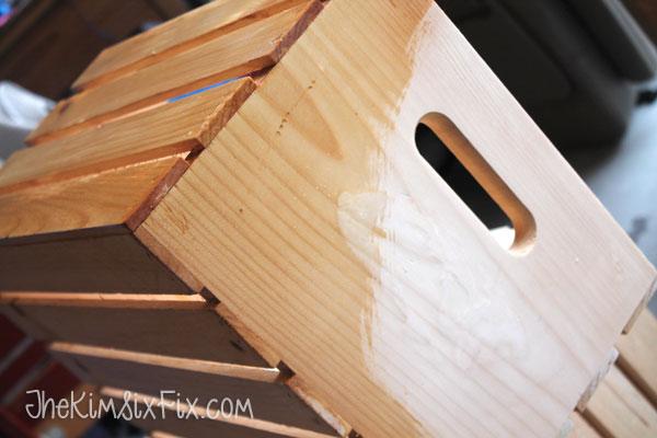 Polyurethane on exterior crates