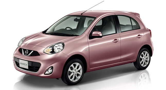 facelifted 2014 nissan micra march hatchback puts on a. Black Bedroom Furniture Sets. Home Design Ideas