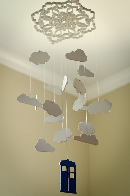 Doctor Who Inspired Cloud Mobile from Little Wren's Nursery