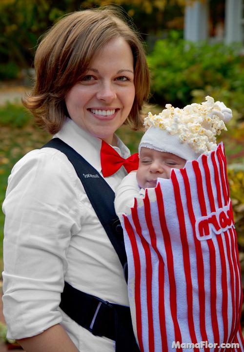 Disfraz Popcorn Bebé y Mamá