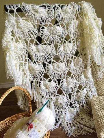 Living Well Shantis Art Work Journal Bridal Shawl Hairpin Lace