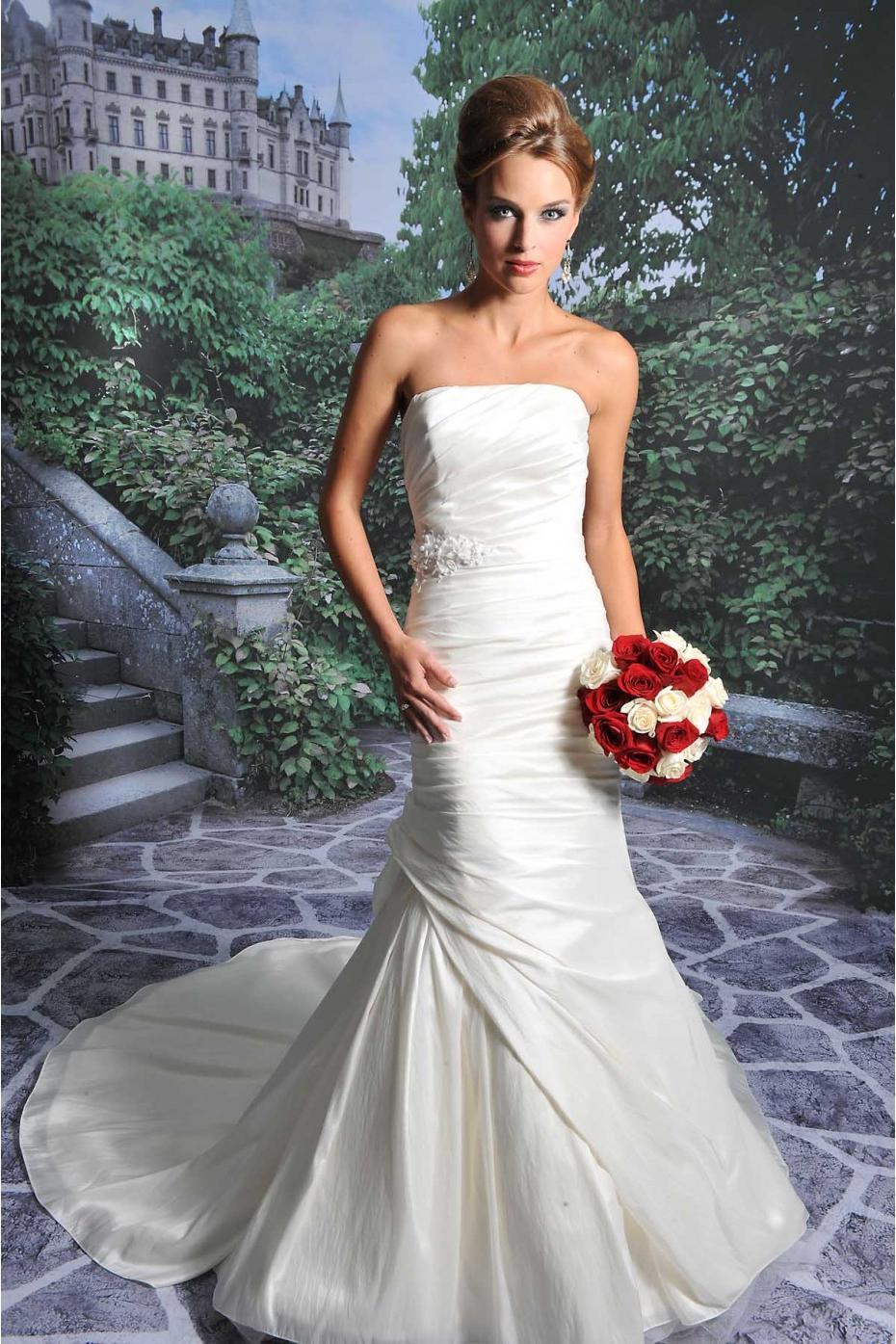 Taffeta Wedding Dress With