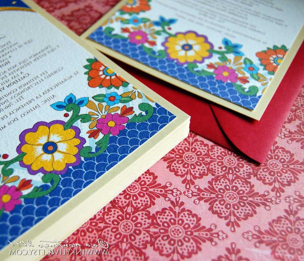 70 5x7 Talavera invitations
