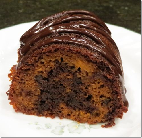 Grain Free Sweet Potato Chocolate Marble Bundt Cake