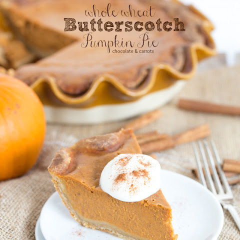 Whole Wheat Butterscotch Pumpkin Pie