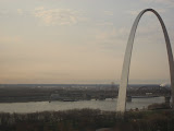 The St Louis Arch from our hotel room window 03202011b