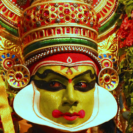 Kathakali by Umamaheswari Raj - People Portraits of Men ( #photography#people#portrait#man#kathakali#dance#performer#kerala#india#classical#dance# )