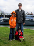 Mike with the boys at the USS Midway