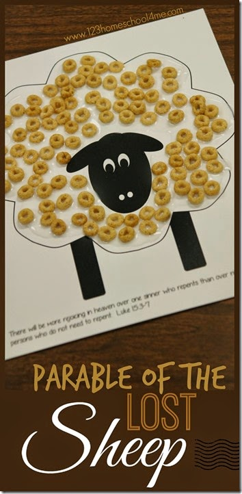 Parable of the Lost Sheep Craft and Game for Sunday School Lessons