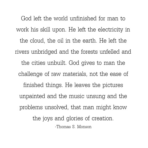 glories of creation -- monson