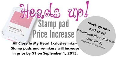 stamp pad price increase