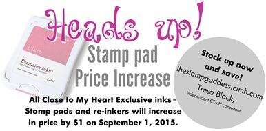 stamp pad price increase