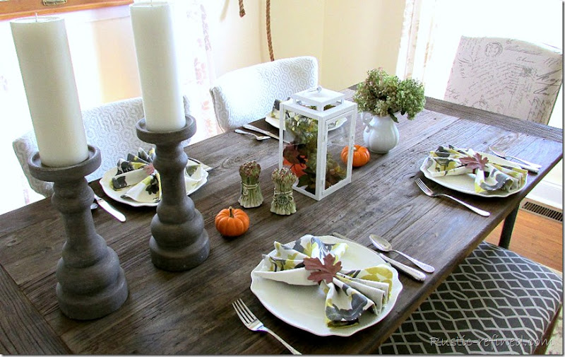 Setting a Fall Dining Table