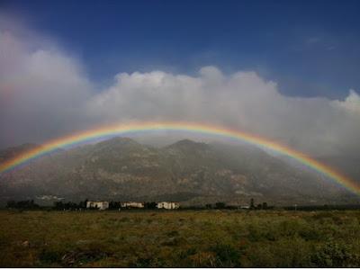 Rainbow over Monachus Monachuc Apartments