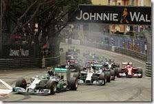 La partenza del gran premio di Monaco 2014