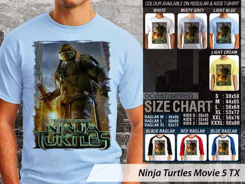 Kaos Movie Film Ninja Turtles Movie 5 distro ocean seven
