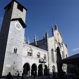 Como Cathedral  by Dražen Komadina - City,  Street & Park  Street Scenes ( como cathedral, como, italy )