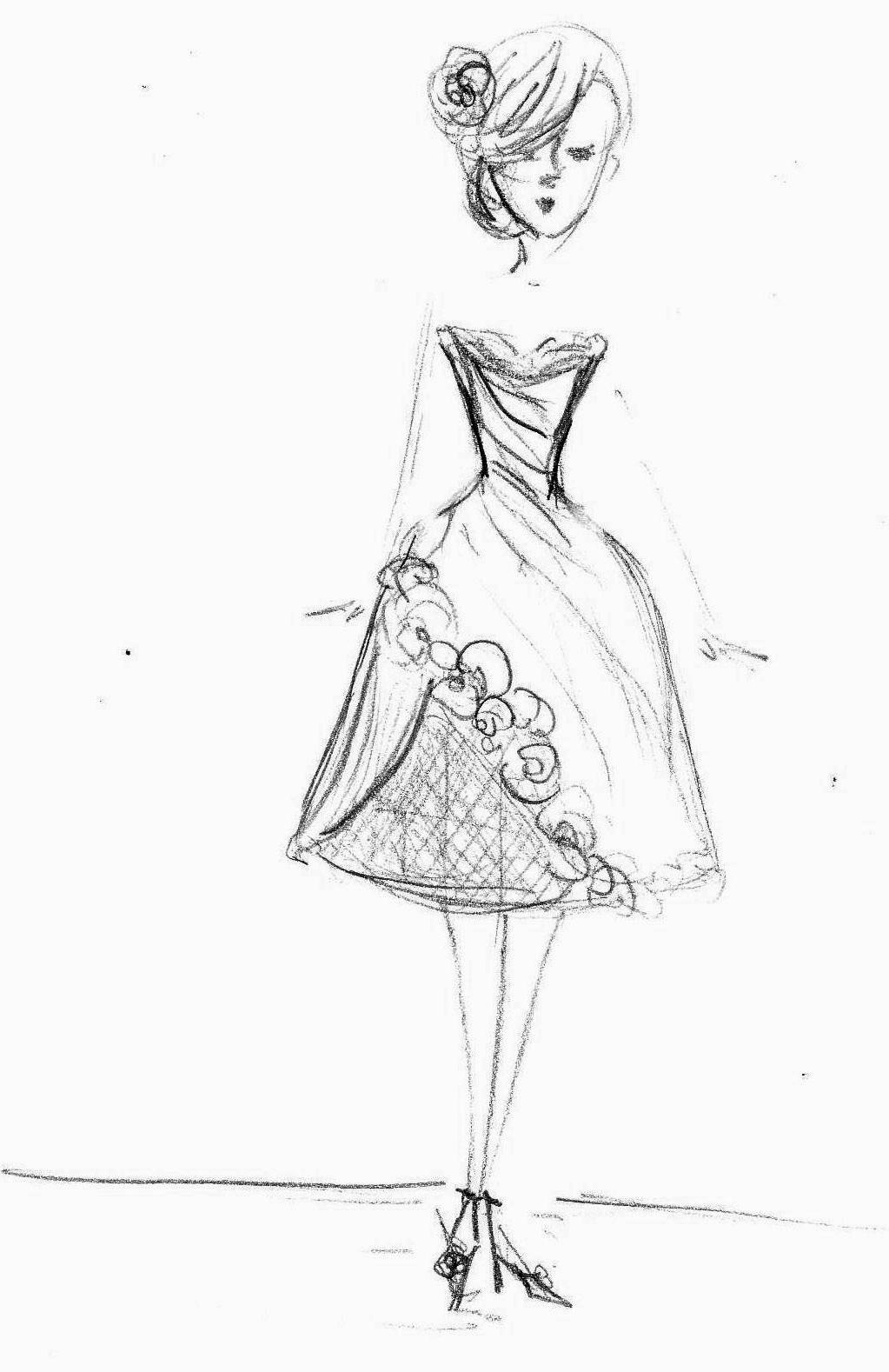 to my wedding dress