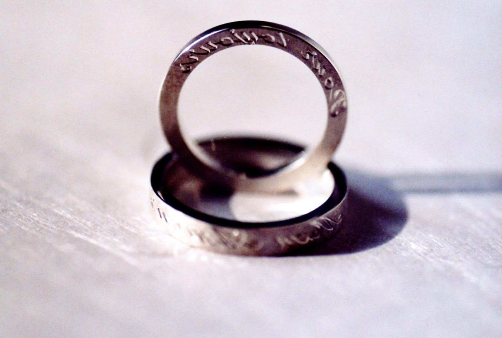 Wedding rings and engagement