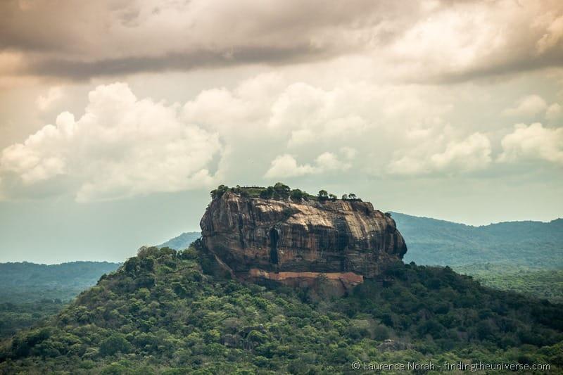 Sigiriya from a distance Sri Lanka