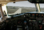 MD-82 cockpit landing.