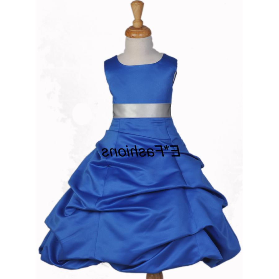 ROYAL BLUE SILVER WEDDING GIRL