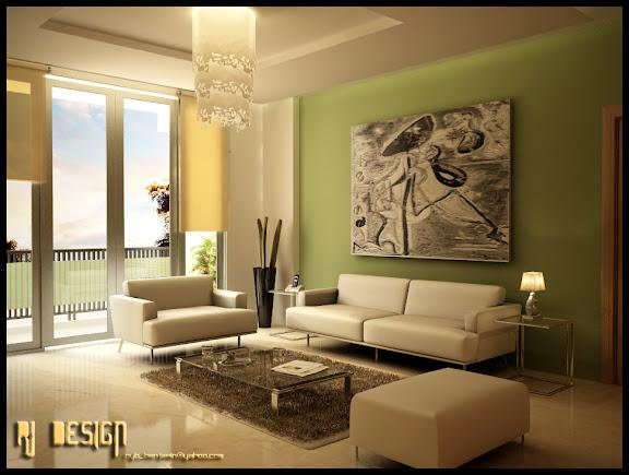 ein traumhaftes  wohnzimmer in grün