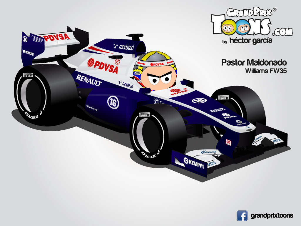 Пастор Мальдонадо Williams FW35 Grand Prix Toons 2013