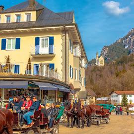 vistas castillo Neuschwanstein, Füssen, München by Roberto Gonzalo Romero - City,  Street & Park  Vistas ( münchen, füssen, castle, neuschwanstein )