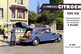 Citroen Traction 11 Commerciale 1954