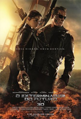 O Exterminador do Futuro - Gênesis - Poster Nacional