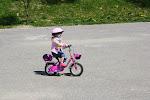 mój pierwszy raz na rowerku ;-)