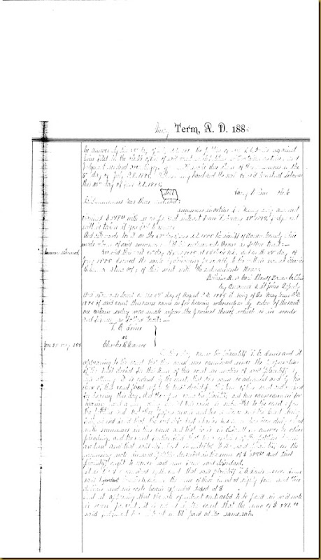 T.E. Irvins filed petition Charles B. Monroe 1885 2