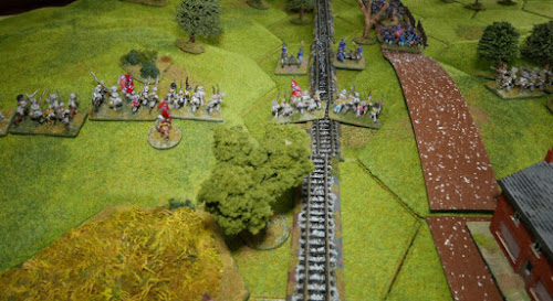 Confederates capture the rail cut.