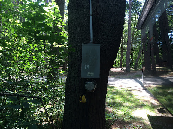 Our electrical hook-up at Desert of Maine