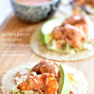 Grilled Bacon Wrapped Shrimp Tacos