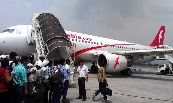 самолет посадка airarabia